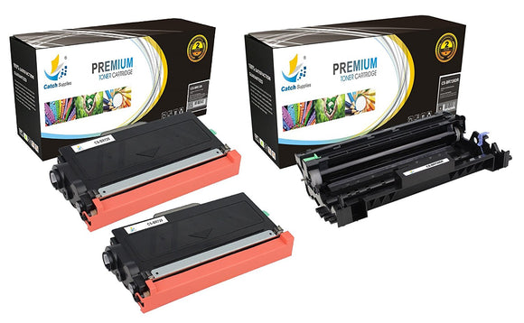 Catch Supplies Replacement Combo pack of 2 TN720 Toner Cartridges and 1 DR720 Drum Unit