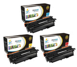 Catch Supplies Replacement HP CF331A,CF332A,CF333A Standard Yield Laser Printer Toner Cartridges - Three Pack