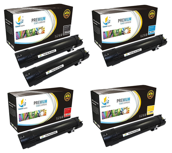 Catch Supplies Replacement Dell 330-5846,330-5850,330-5843,330-5852 Standard Yield Laser Printer Toner Cartridges - Five Pack