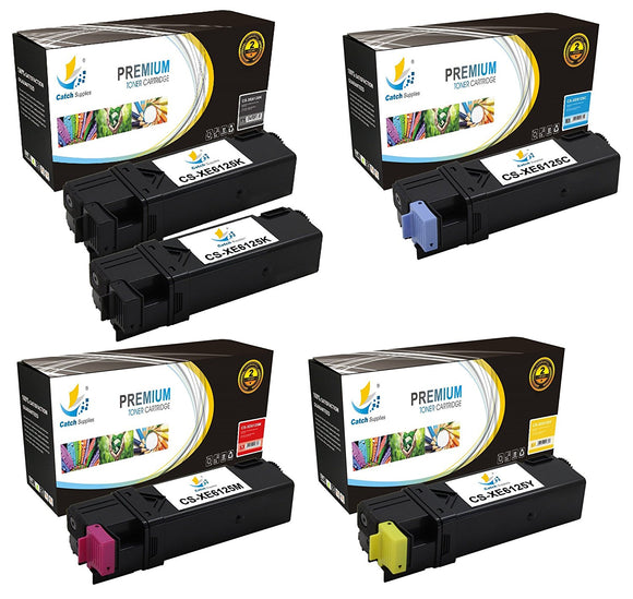 Catch Supplies Replacement Xerox 106R01334,106R01331,106R01332,106R01333 Standard Yield Laser Printer Toner Cartridges - Five Pack