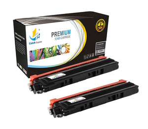 Catch Supplies Replacement Brother TN-210BK Standard Yield Laser Printer Toner Cartridges - Two Pack