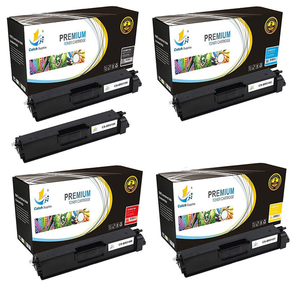 Catch Supplies Replacement Brother TN-315BK, TN-315C, TN-315M, TN-315Y Standard Yield Laser Printer Toner Cartridges - Five Pack