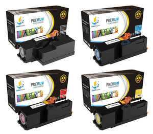 Catch Supplies Replacement Dell 332-0399,332-0400,332-0401,332-0402 Standard Yield Laser Printer Toner Cartridges - Four Pack
