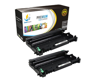 Catch Supplies Replacement Brother DR-360 Compatible Drum Unit Laser Printer Toner Cartridges - Two Pack
