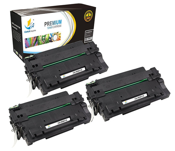 Catch Supplies Replacement HP Q6511A Standard Yield Laser Printer Toner Cartridges - Three Pack