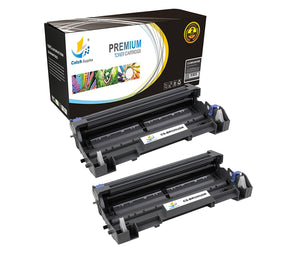 Catch Supplies Replacement Brother DR-520 Compatible Drum Unit Laser Printer Toner Cartridges - Two Pack