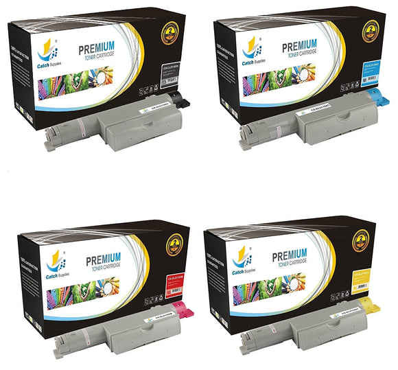Catch Supplies High Yield Replacement 5110 Toner Cartridge 4 Pack Set