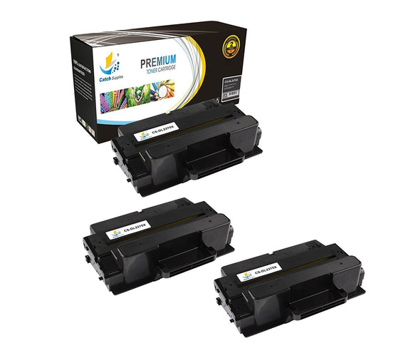 Catch Supplies Replacement Dell 593-BBBJ Standard Yield Laser Printer Toner Cartridges - Three Pack