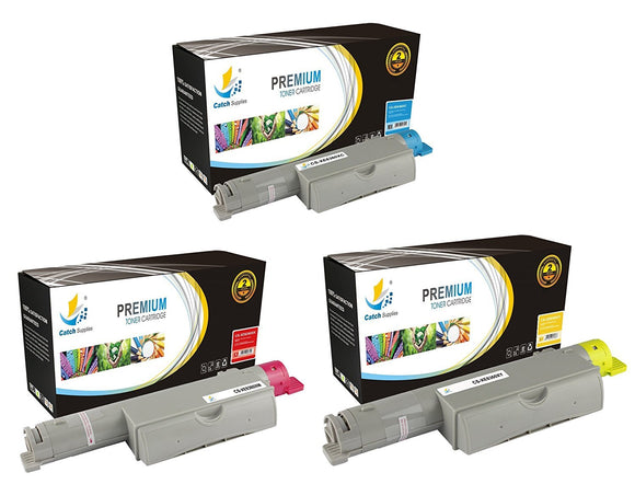 Catch Supplies High Yield Replacement 6360 Toner Cartridge 3 Pack Color Set