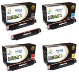 Catch Supplies Replacement HP CF350A,CF351A,CF352A,CF353A Standard Yield Laser Printer Toner Cartridges - Five Pack