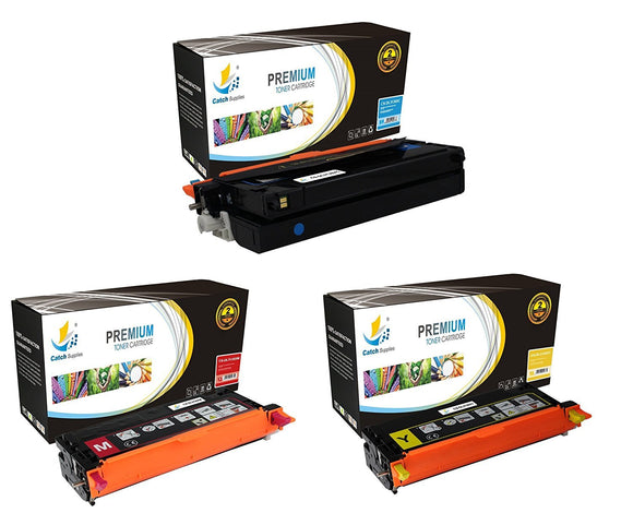 Catch Supplies Replacement Dell 330-1199,330-1200,330-1204 Standard Yield Laser Printer Toner Cartridges - Three Pack