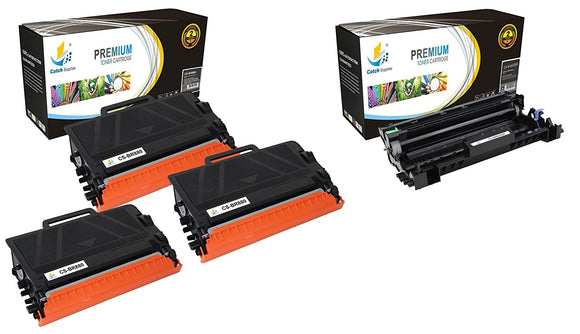 CATCH SUPPLIES 3 TN880 TONER AND DR820 DRUM REPLACEMENT 4 PACK