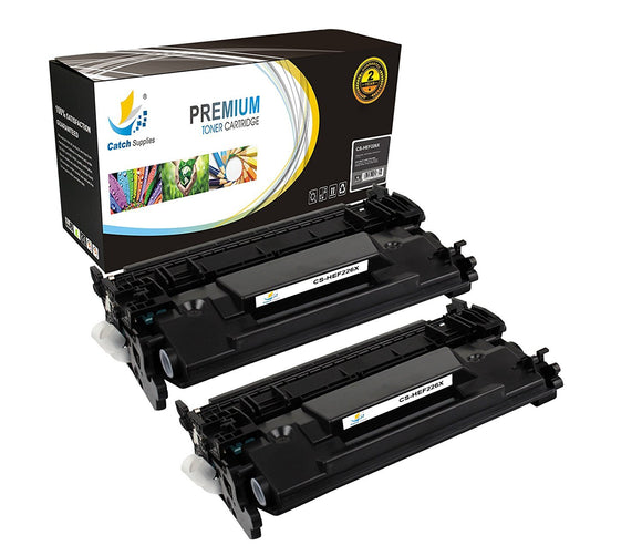 Catch Supplies Replacement HP CF226X High Yield Black Toner Cartridge Laser Printer Toner Cartridges - Two Pack