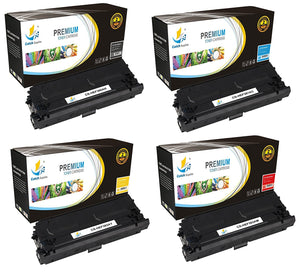 Catch Supplies Replacement HP CF360A, CF361A, CF362A, CF363A Standard Yield Laser Printer Toner Cartridges - Four Pack