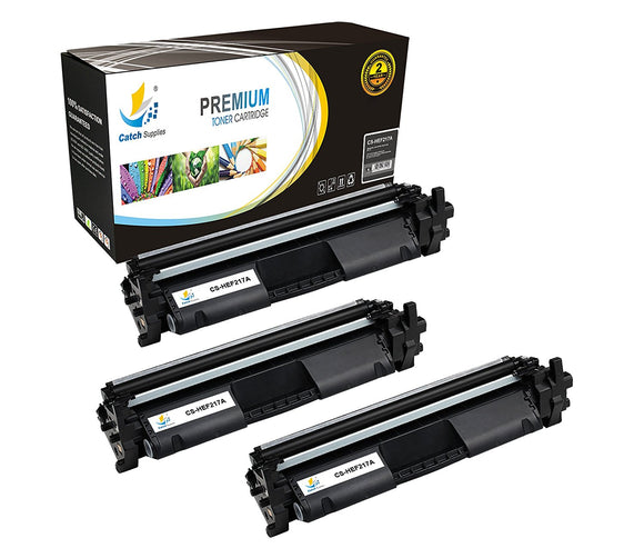 Catch Supplies Replacement HP HP-17A Standard Yield Toner Cartridge - 3 Pack