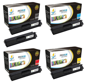Catch Supplies Replacement Brother TN-336BK, TN-336C, TN-336M, TN-336Y Standard Yield Laser Printer Toner Cartridges - Five Pack