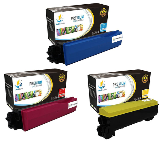 Catch Supplies Replacement Kyocera TK-562C,TK-562M,TK-562Y Standard Yield Laser Printer Toner Cartridges - Three Pack