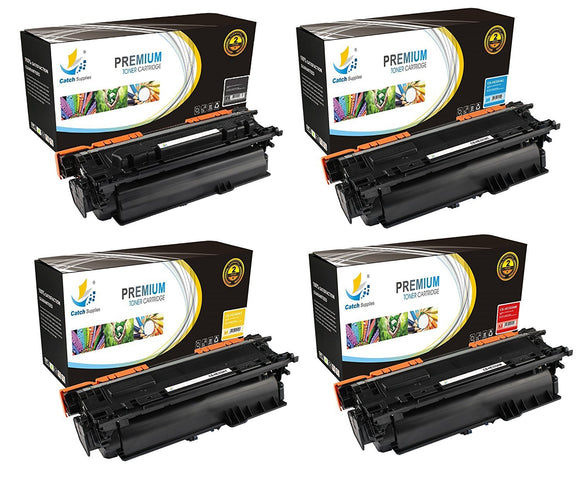 Catch Supplies Replacement HP CF320A,CF331A,CF332A,CF333A Standard Yield Laser Printer Toner Cartridges - Four Pack