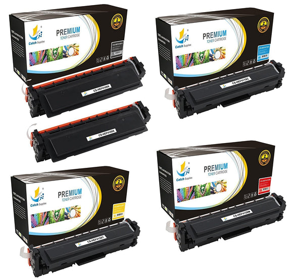 Catch Supplies Replacement HP CF410X, CF411X, CF412X, CF413X High Yield Toner Cartridges Laser Printer Toner Cartridges - Five Pack