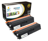 Catch Supplies Replacement Brother TN433K Standard Yield Laser Printer Toner Cartridges - Two Pack
