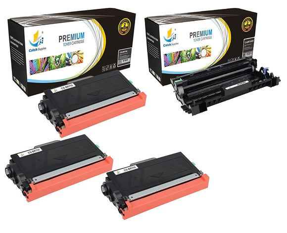 Catch Supplies Replacement Combo pack of 3 TN750 Toner Cartridges and 1 DR720 Drum Unit