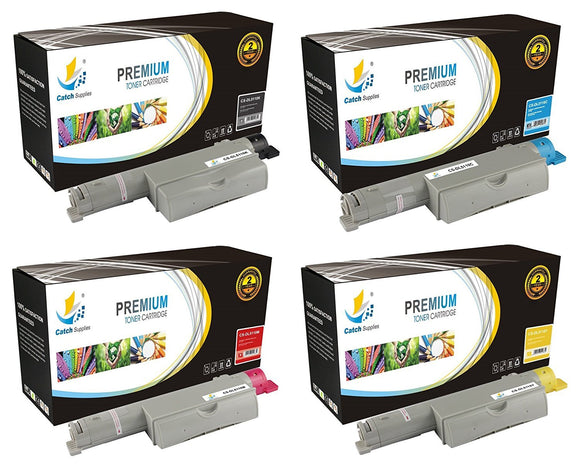 Catch Supplies Replacement 5110 Toner Cartridge 4 Pack Set