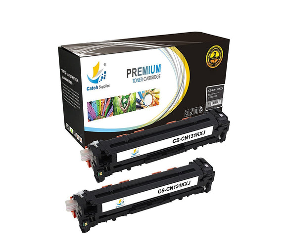 Catch Supplies High Yield Replacement CF210X – 131X Black Toner Cartridge 2 Pack Set