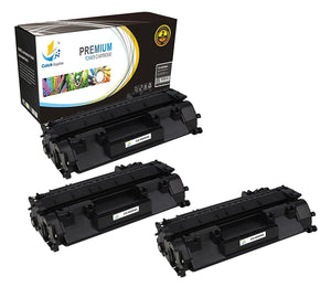 Catch Supplies Replacement CE505A Black Toner Cartridge 3 Pack