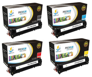 Catch Supplies Replacement HP CE320A,CE321A,CE322A,CE323A Standard Yield Laser Printer Toner Cartridges - Four Pack