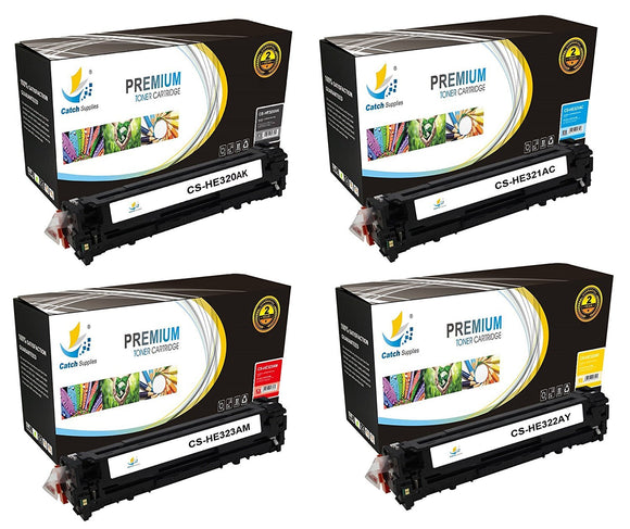 Catch Supplies Replacement 128A Toner Cartridge 4PK Set
