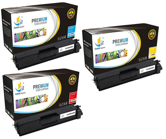 Catch Supplies Replacement Brother TN-339C, TN-339M, TN-339Y Standard Yield Laser Printer Toner Cartridges - Three Pack