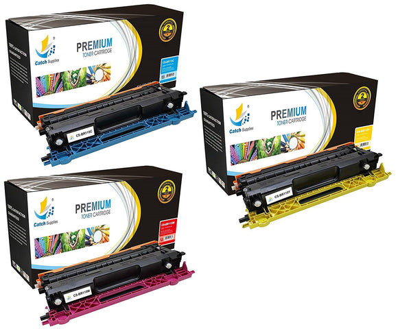 Catch Supplies Replacement Brother TN-115C, TN-115M, TN-115Y Standard Yield Laser Printer Toner Cartridges - Three Pack