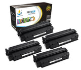 Catch Supplies Replacement HP Q2613X High Yield Black Toner Cartridge Laser Printer Toner Cartridges - Four Pack