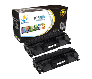 Catch Supplies Replacement HP CF280X Jumbo Yield Black Toner Cartridge Laser Printer Toner Cartridges - Two Pack