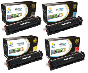 Catch Supplies Replacement HP CF410A, CF411A, CF412A, CF413A Standard Yield Laser Printer Toner Cartridges - Four Pack