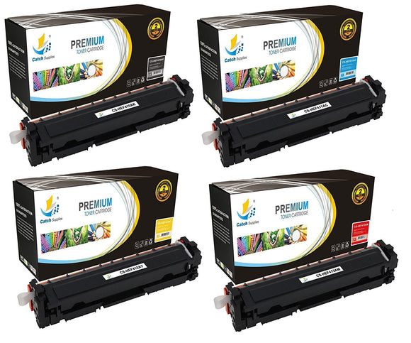 Catch Supplies Replacement 410A Toner Cartridge 4 Pack Set