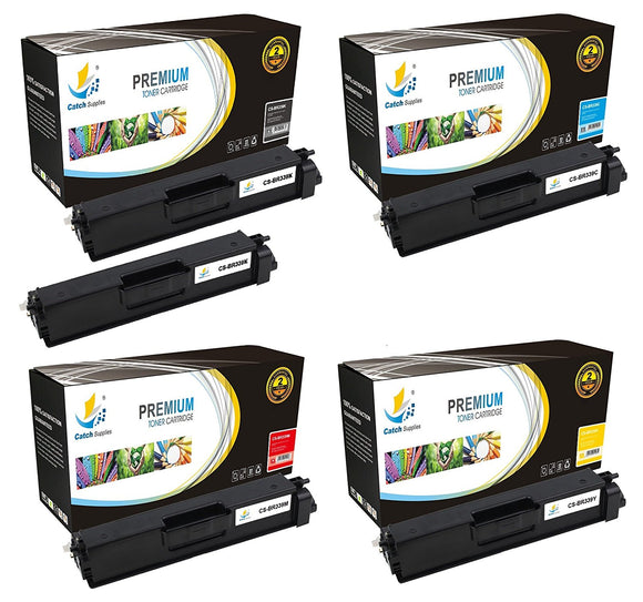 Catch Supplies Replacement TN339 Toner Cartridge 5 Pack Set
