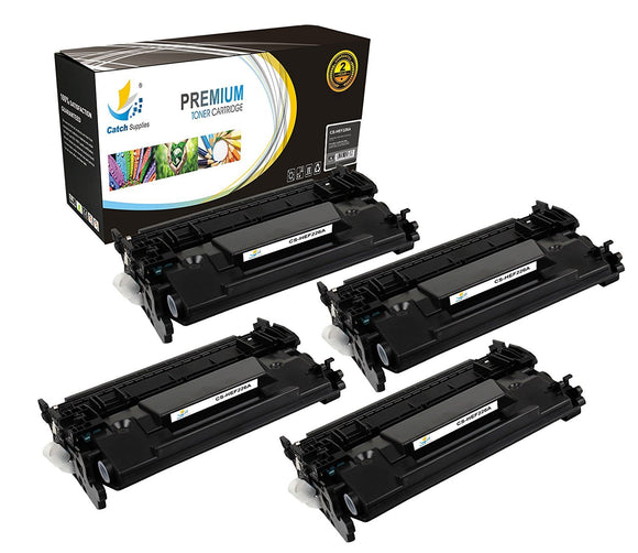 Catch Supplies Replacement HP CF226A Standard Yield Black Toner Cartridge Laser Printer Toner Cartridges - Four Pack