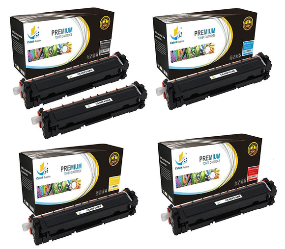 Catch Supplies Replacement HP CF410A, CF411A, CF412A, CF413A Standard Yield Laser Printer Toner Cartridges - Five Pack