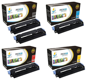 Catch Supplies Replacement HP Q6000A,Q6001A,Q6002A,Q6003A Standard Yield Laser Printer Toner Cartridges - Five Pack
