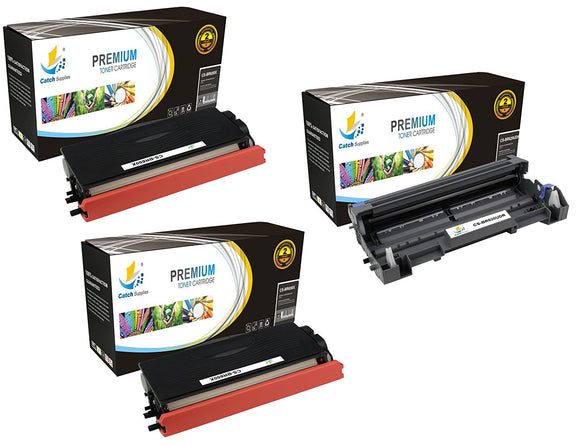 Catch Supplies Replacement Combo pack of 2 TN650 Jumbo Yield Toner Cartridge and 1 DR620 Drum Unit