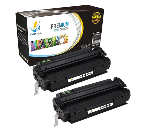 Catch Supplies Replacement HP Q2610A Standard Yield Laser Printer Toner Cartridges - Two Pack