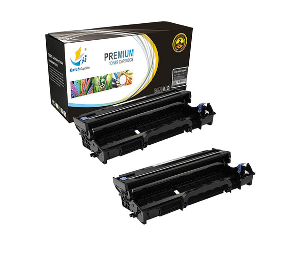 Catch Supplies Replacement Brother DR-510 Compatible Drum Unit Laser Printer Toner Cartridges - Two Pack