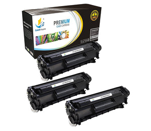 Catch Supplies Replacement Q2612A Black Toner Cartridge 3 Pack