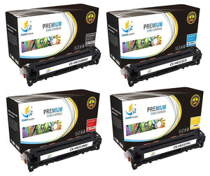 Catch Supplies Replacement HP CF210A,CF211A,CF212A,CF213A Standard Yield Laser Printer Toner Cartridges - Four Pack