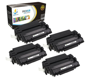 Catch Supplies Replacement HP Q6511X High Yield Black Toner Cartridge Laser Printer Toner Cartridges - Four Pack
