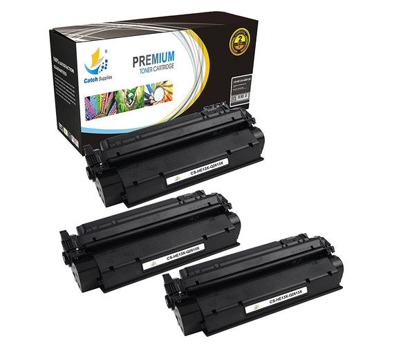Catch Supplies Replacement HP Q2613X High Yield Black Toner Cartridge Laser Printer Toner Cartridges - Three Pack