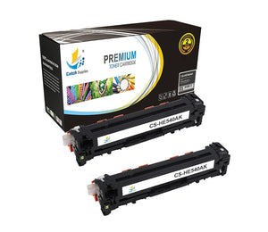 Catch Supplies Replacement CB540A – 125A Black Toner Cartridge 2 Pack Set