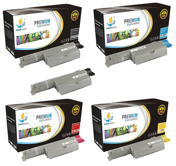 Catch Supplies Replacement Dell 310-7890,310-7892,310-7894,310-7896 Standard Yield Laser Printer Toner Cartridges - Five Pack