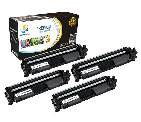 Catch Supplies Replacement HP HP-30A Standard Yield Toner Cartridge - 4 Pack